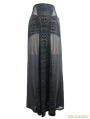 Black Gothic Sexy Cross Long Skirt for Women