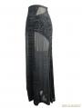 Black Gothic Sexy Cross Long Skirt for Women