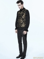 Gold Gothic Vintage Double-breasted Waistcoat for Men