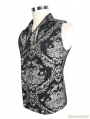 Silver Gothic Vintage Double-breasted Waistcoat for Men