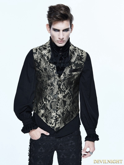 Gothic Vintage Pattern Waistcoat for Men