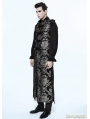 Silver Gothic Vintage Double-breasted Long Vest for Men