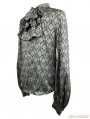 Gothic Vintage Pattern Blouse with Detachable Bowtie
