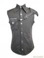 Black Gothic Punk Sleeveless Shirt for Men