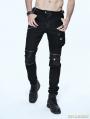 Black Gothic Punk Pockets Pants for Men