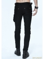 Black and Coffee Gothic Punk Pockets Pants for Men