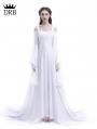 White Renaissance Fairy Tale Medieval Wedding Dress