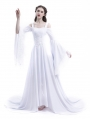 White Renaissance Fairy Tale Medieval Wedding Dress