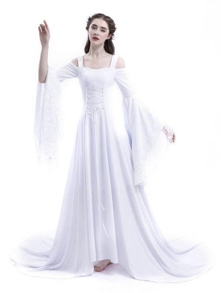 Renaissance Wedding Dress.White Renaissance Fairy Tale Medieval Wedding Dress Devilnight Co Uk