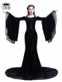 Black Romantic Off-the-Shoulder Gothic Medieval Two Pieces Dress
