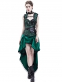 Green Gothic Steampunk Corset Party Dress