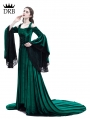Green Off-the-Shoulder Renaissance Fairy Tale Medieval Dress