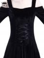 Black Off-the-Shoulder Renaissance Gothic Medieval Dress