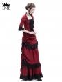 Red Victorian Bustle Dress