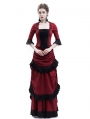 Red Victorian Bustle Dress