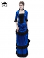 Blue Victorian Bustle Dress