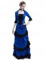 Blue Victorian Bustle Dress