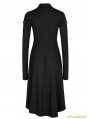Black Gothic Punk Dress Zipper High-Low Dress