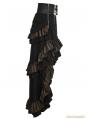 Steampunk Layered Belt High-Low Skirt