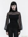 Black Gothic Lantern Sleeve T-Shirt for Women
