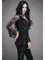 Black Romantic Gothic Sexy Flower Lace Shirt for Women