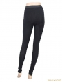 Black Vintage Pattern Gothic Leggings for Women