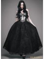 Black Gothic Ball Dress with Deer Ornaments