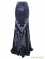 Romantic Gothic Flower Fishtail Skirt