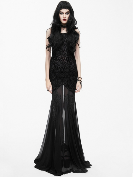 Black Sexy Gothic Goddess Mermaid Dress Devilnight Co Uk