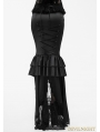 Black Gothic High-Low Fishtail Skirt