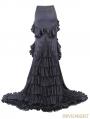 Black Vintage Gothic Elegant Fishtail Skirt