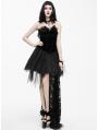 Black Gothic Feather Lace Short Dress