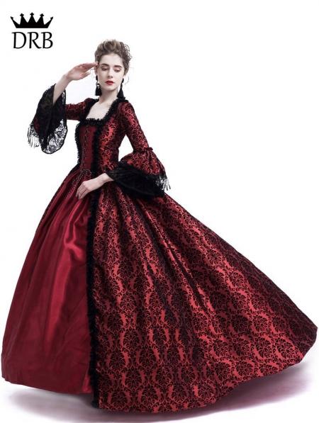 5d4b6f4f2f0e Red Masked Ball Gothic Victorian Costume Dress - Devilnight.co.uk