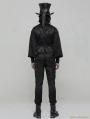 Black Gothic Gorgeous Jacquard Vest for Men