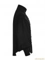 Black Gothic Vintage Gentleman Long Sleeve Blouse for Men