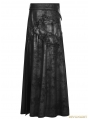 Black Gothic Punk Gorgeous PU Leather Split Skirt