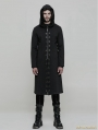 Black Gothic Punk Long Trench Coat for Men