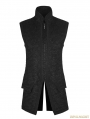 Black Gothic Vintage Victorian Gorgeous Long Vest for Men