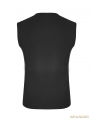Black Gothic Punk Skinny Sleeveless T-Shirt for Men