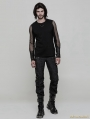 Black Gothic Punk Handsome Uniform Trousers for Men