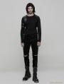 Black Gothic Punk Cowboy Trousers for Men