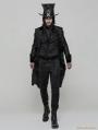 Black Gothic High Waist Jacquard Trousers for Men