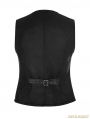 Black Vintage Gothic Buckles Waistcoat for Men