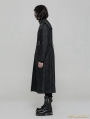 Black Gothic Punk Military Style Handsome Coat for Men