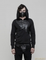 Black Gothic Punk Pullover Hoodies for Men