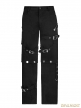 Black Gothic Punk Handsome Uniform Trousers for Men