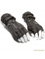 Grey Steampunk Gloves for Men
