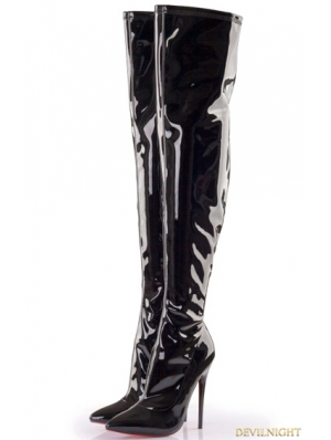 Gothic High Heel PU Leather Over knee Boots
