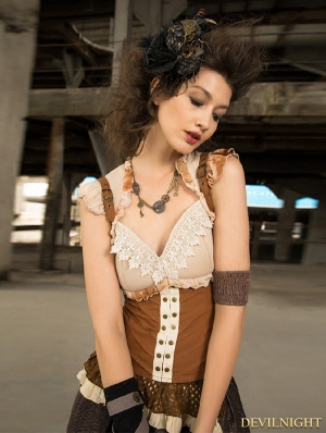 Steampunk Vest Top for Women