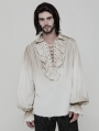 Iovry Steampunk Long Sleeve Shirt for Men